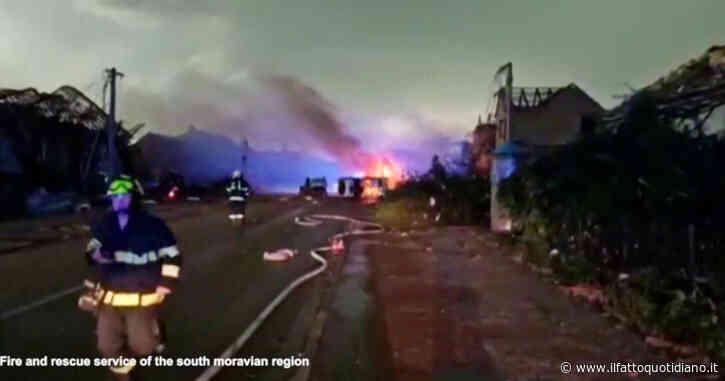 Repubblica Ceca, tornado devasta comuni nel sud-est: tre morti e centinaia di feriti – Video