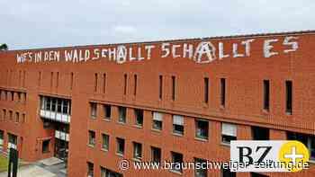 Schmierfinken steigen dem Amtsgericht Wolfsburg aufs Dach
