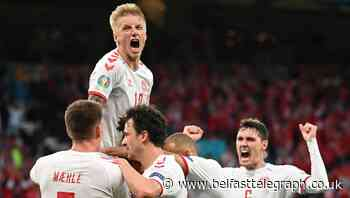 Denmark reach Euro 2020 last 16 on wave of emotion with Wales now in their way