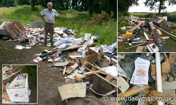 Farmer hits out at fly-tippers that dumped an entire kitchen