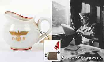 Rare items salvaged from Adolf Hitler's train by a British officer including cream jug for sale