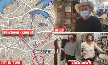 Covid restrictions NSW, King St, Newtown: Trendy Sydney road split in half by Gladys Berejiklian