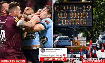Palaszczuk blasted for ironic message to Sydney after blocking borders and buying State of Origin