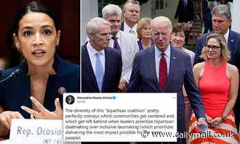 Joe Biden's infrastructure deal slammed by The Squad AOC as suggests racism is behind $1.2tn plan