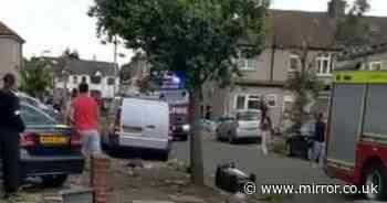 'Tornado' in London leaves trail of destruction as bins seen flying through air
