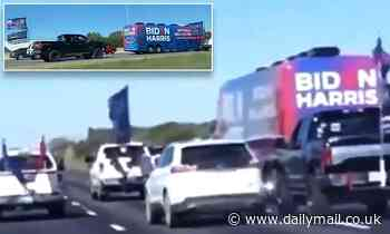 Biden campaign staffers sue Trump fans who tried to run their bus off a Texas road