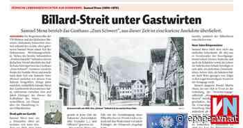 Billard-Streit unter Gastwirten - Vorarlberger Nachrichten   VN.AT