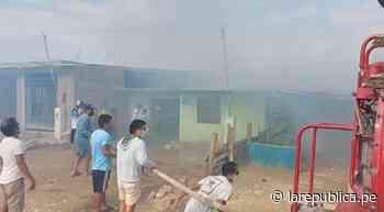 Piura: incendio consume tres casas en centro poblado de Paita - LaRepública.pe