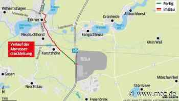 Gigafactory und Tesla: Route von Abwasserdruckleitung durch Erkner steht fest – Ärger wegen Arbeiten im Wald - moz.de