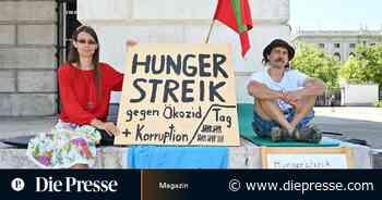 """Hungerstreik am Heldenplatz: """"Die Lobau ist unser Hainburg"""" - Die Presse"""
