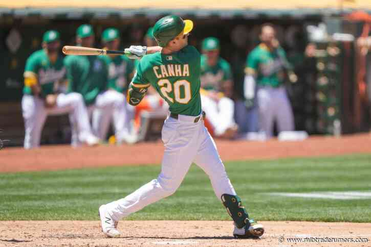 Athletics Place Mark Canha on Injured List With Hip Strain