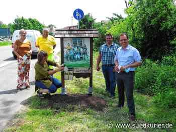Geisingen: Das Begrüßungsschild am Ortseingang von Geisingen steht wieder - SÜDKURIER Online