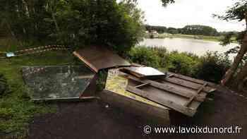 Wingles : colère après la dégradation de la cabane design du parc Cabiddu - La Voix du Nord