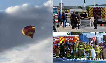 Five dead after hot air balloon crashes into power lines causing gondola to catch fire in New Mexico
