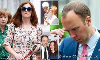 Callous Matt Hancock dumped wife on Thursday after learning his affair would be finally exposed