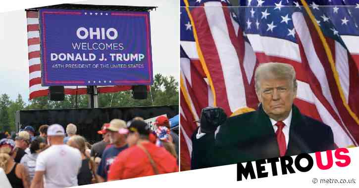 Donald Trump holds first rally since losing election in Ohio