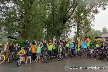 """Actievoerders vragen veilige fietsverbinding: """"Angst om hier... (Boutersem) - Het Nieuwsblad"""