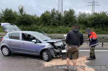 Unfall auf der A8 bei Wendlingen: 30-Jährige verliert Kontrolle über ihr Auto - esslinger-zeitung.de