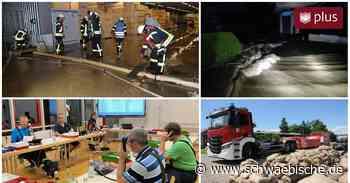 Unwetter und Schäden in Laupheim, Biberach und Riedlingen - Schwäbische