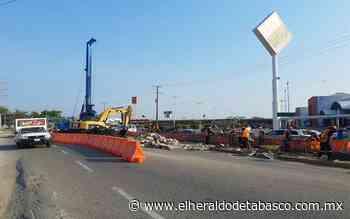 Seguirá caos vial en Villahermosa; Distribuidor Guayabal al 45% - El Heraldo de Tabasco
