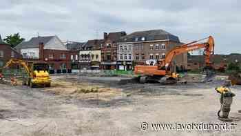Les travaux s'intensifient dans le centre-ville de Jeumont, la circulation modifiée - La Voix du Nord