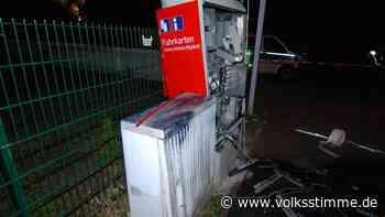 Fahrkartenautomat in Genthin gesprengt - Das Geld wurde aber verschmäht - Volksstimme