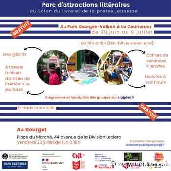 Parc d'attractions littéraires : ParcoMobile – Le Bourget Place du Marché vendredi 23 juillet 2021 - Unidivers