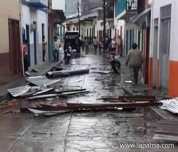 Al menos 12 viviendas afectadas por vendaval en Montebonito (Marulanda) - La Patria.com