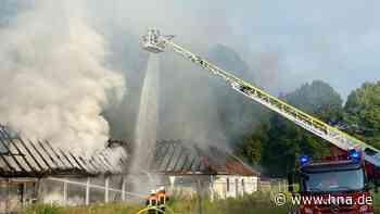 Brandstiftung? Feuer im alten Hallenbad in Bad Arolsen - Gebäude wurde direkt abgerissen - HNA.de