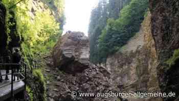 Arbeiter stürzt in Breitachklamm acht Meter tief von Steg und stirbt - Augsburger Allgemeine