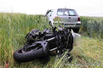 Motorradfahrer auf B6 bei Radeberg schwer verletzt - Sächsische.de