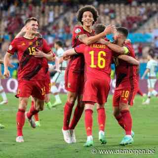 Thorgan Hazard trapt België op voorsprong tegen Portugal: 1-0 aan de rust