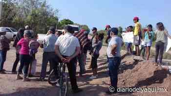 Protestan en Huatabampo por saqueos de agua - Diario del Yaqui