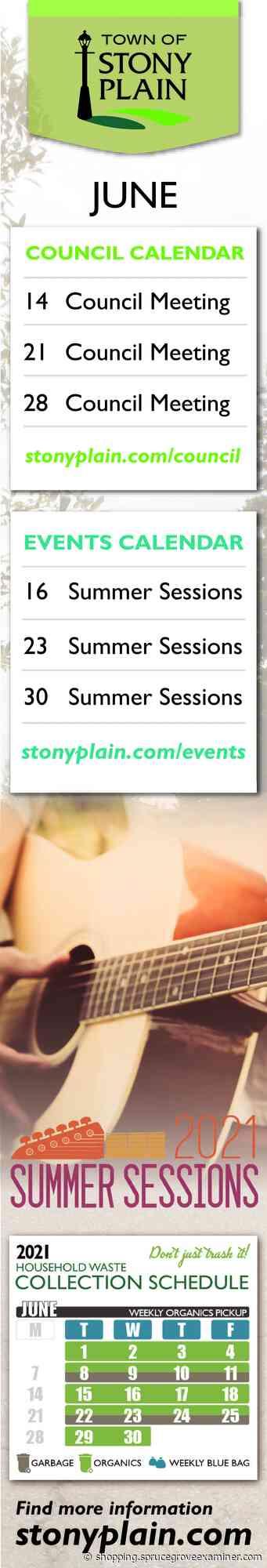 Council Calendar, Town Of Stony Plain , Stony Plain, AB - Spruce Grove Examiner