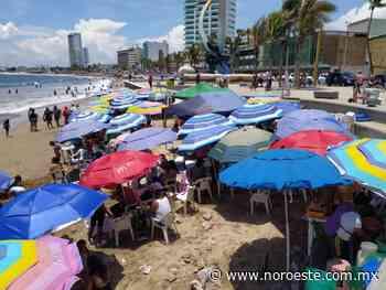 En amarillo, Playa Norte, Isla de la Piedra y Cerritos, en Mazatlán - Noroeste