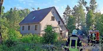 Brand in einem Einfamilienhaus in Damsdorf nahe Kloster Lehnin - Märkische Allgemeine Zeitung