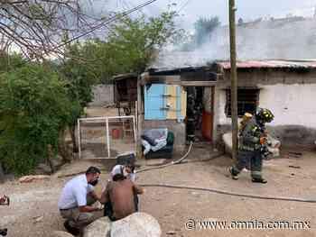 Rescatan a hombre de incendio en la colonia San Patricio - Omnia