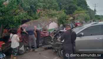 Triple accidente de tránsito en Zacatecoluca deja un fallecido y 10 lesionados - Diario El Mundo