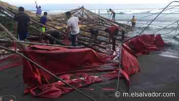 Marejadas dañan rancho de playa en Las Tunas en Conchagua - elsalvador.com