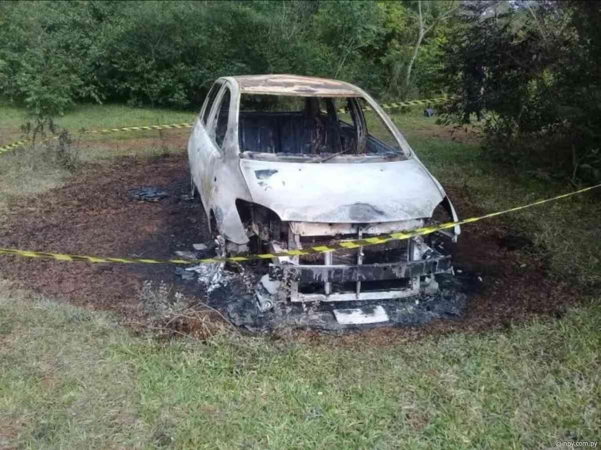 General Artigas: Encuentran un vehículo totalmente incinerado | Noticias Paraguay - NPY