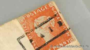 Kostbare Rote Mauritius-Briefmarke wird versteigert - Süddeutsche Zeitung