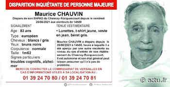 Yvelines. Disparition inquiétante au Chesnay-Rocquencourt : avez-vous vu Maurice Chauvin ? - actu.fr