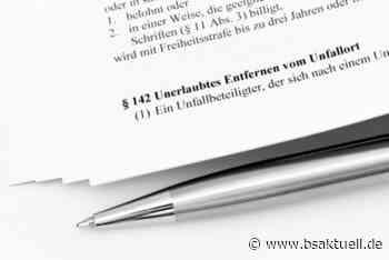 Blaues Fahrzeug begeht Unfallflucht in Jettingen-Scheppach - BSAktuell