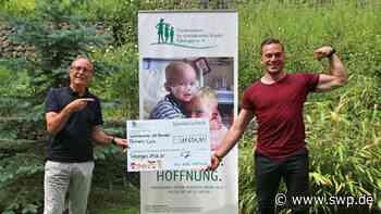 Guinness-Rekord in Metzingen: Carl Jänisch spendet 12.000 Euro an Förderverein für krebskranke Kinder - SWP
