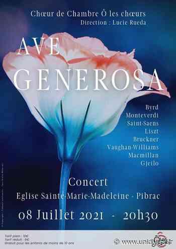 Concert « Ô les chœurs » – Jeudi 8 juillet Eglise Sainte Marie Madeleine jeudi 8 juillet 2021 - Unidivers