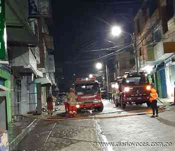 Incendio en ferretería genera alarma en vecinos del jirón Alfonso Ugarte de Tarapoto - Diario Voces