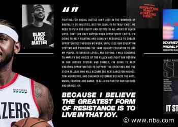 Trail Blazers' Carmelo Anthony Named Inaugural Winner of the Kareem Abdul-Jabbar Social Justice Champion Award