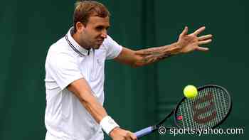 Dan Evans brushes aside Feliciano Lopez to reach second round at Wimbledon - Yahoo Sports