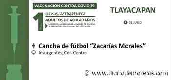 Llega vacuna a Tlayacapan y Puente de Ixtla - Diario de Morelos