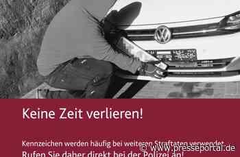 """POL-PDKO: """"Kennzeichen weg?"""" - Die Polizei Boppard informiert über aktuelle Plakataktion - Presseportal.de"""